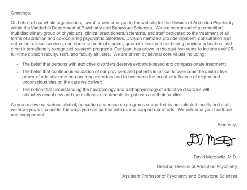 Director's letter