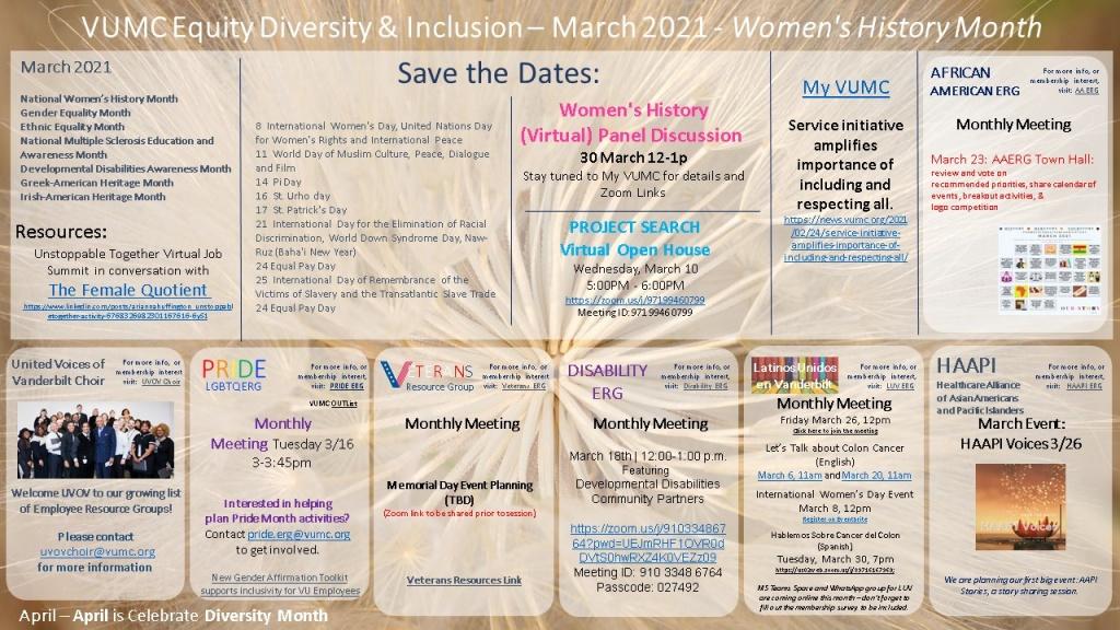 March EDI Events