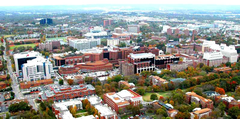 aerial view of VUMC