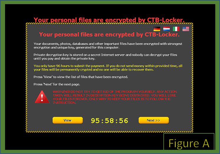 Example of Ransomware pop-up