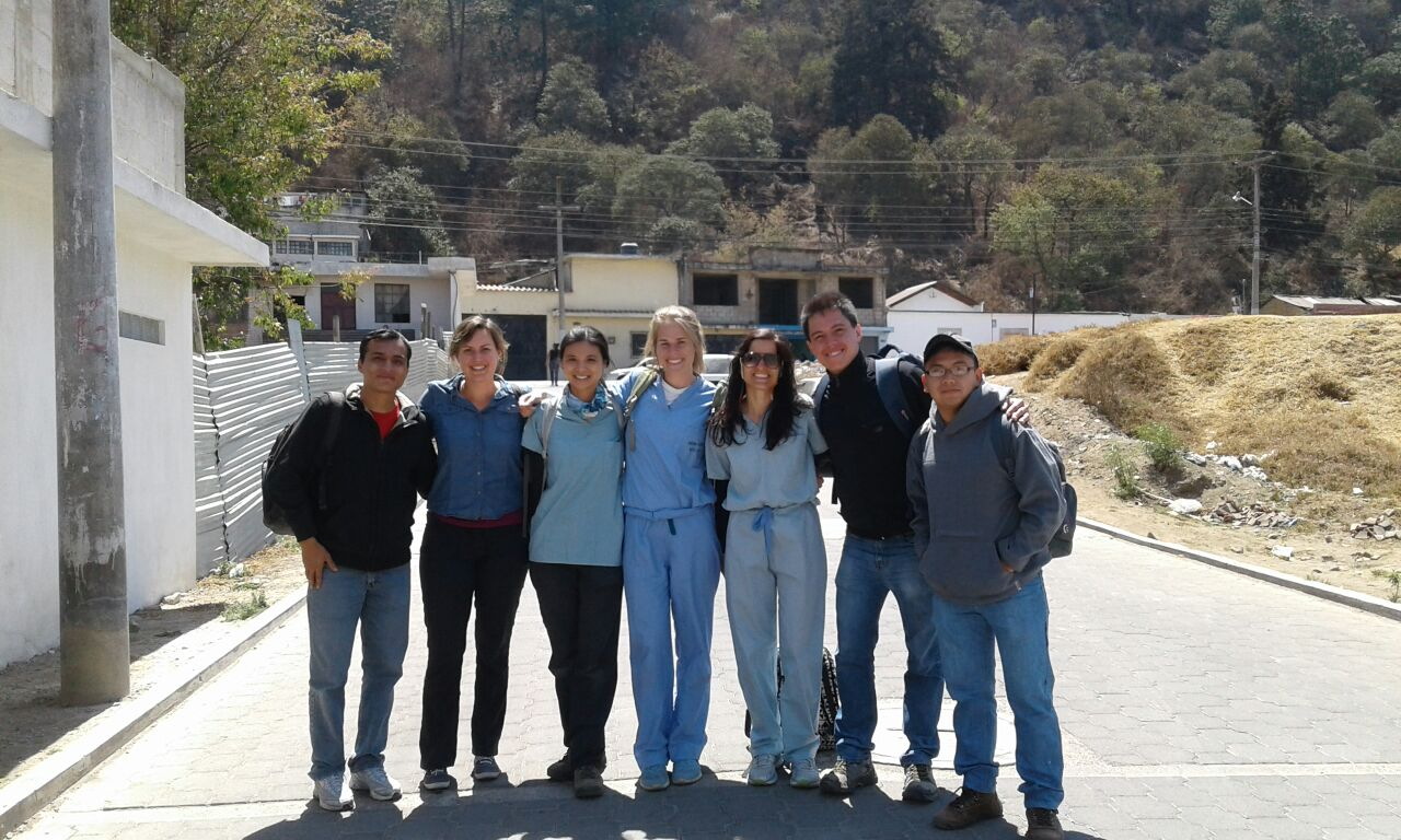 Guatemala - Christina Marmol, MD candidate, with American volunteers and Guatemalan medical students who staff Primeros Pasos clinic..JPG