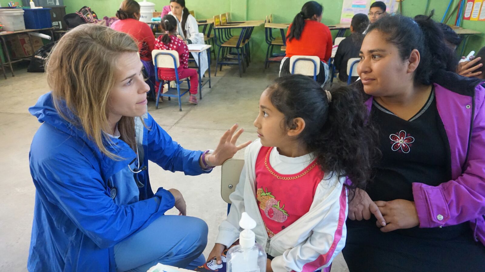 Guatemala - Christina Marmol, MD candidate, working in a mobile clinic at the public school in the Bella Vista community.JPG