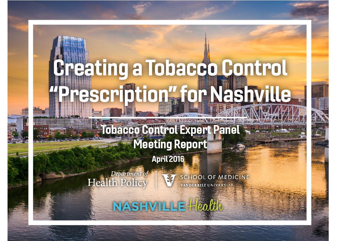 Tobacco Control report slide