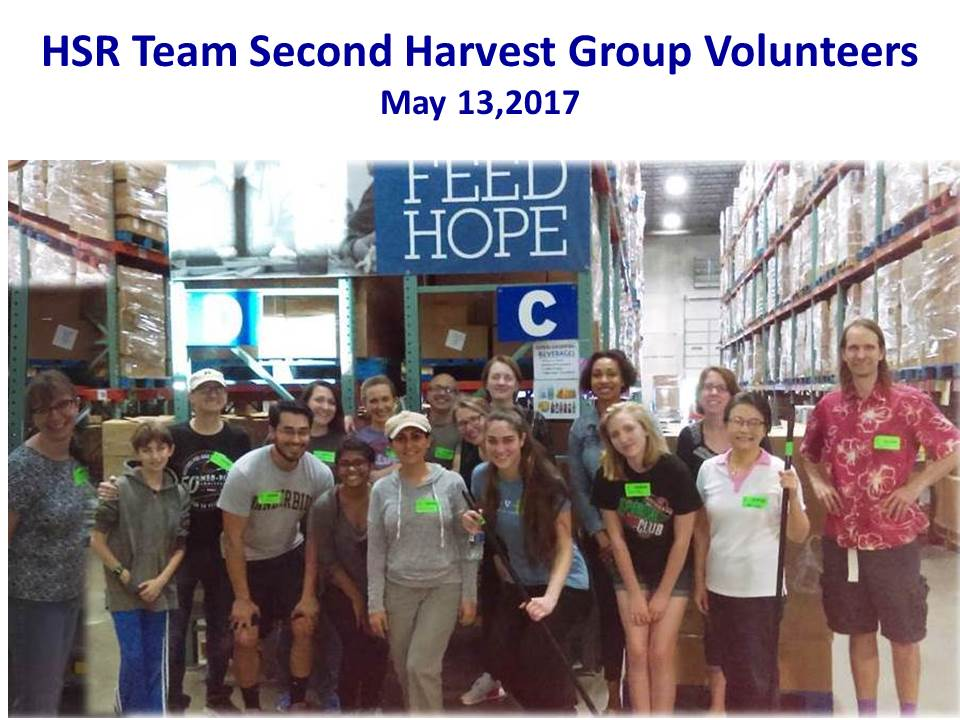 HSR team volunteering