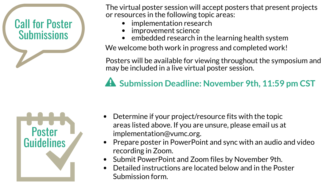 poster submissions
