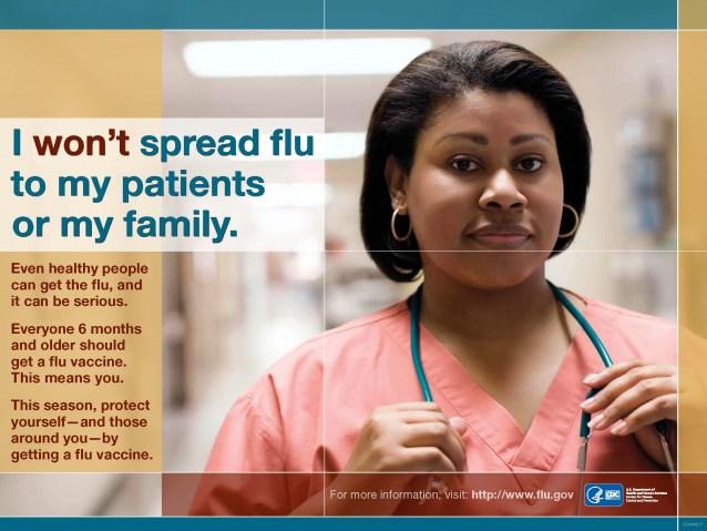 Healthcare poster regarding influenza