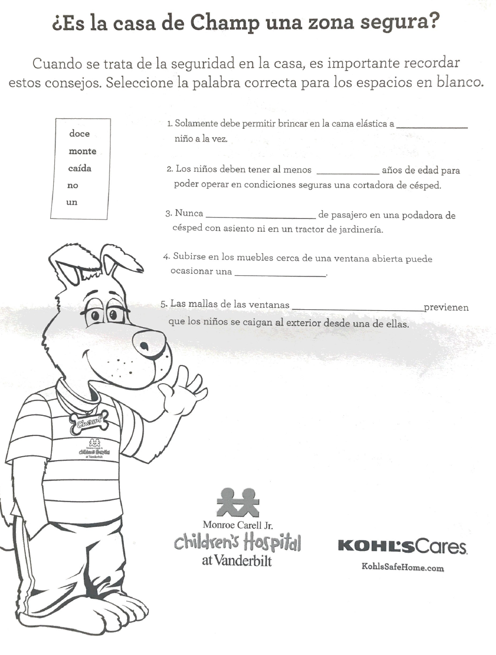 Home Safety Spanish