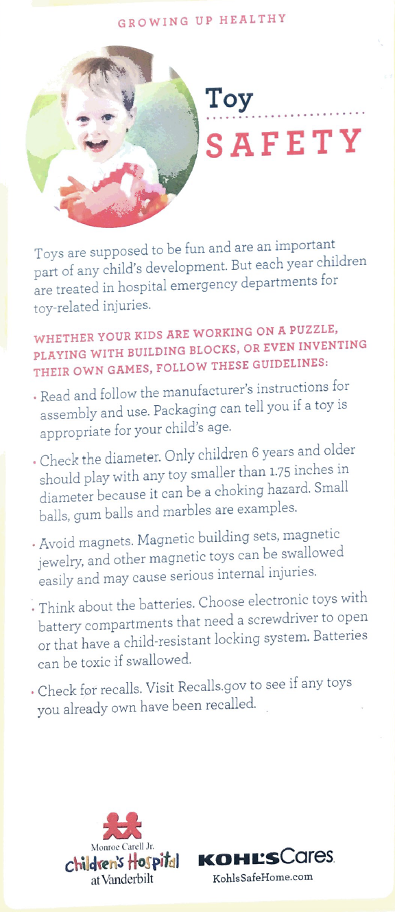 Toy Safety handout English