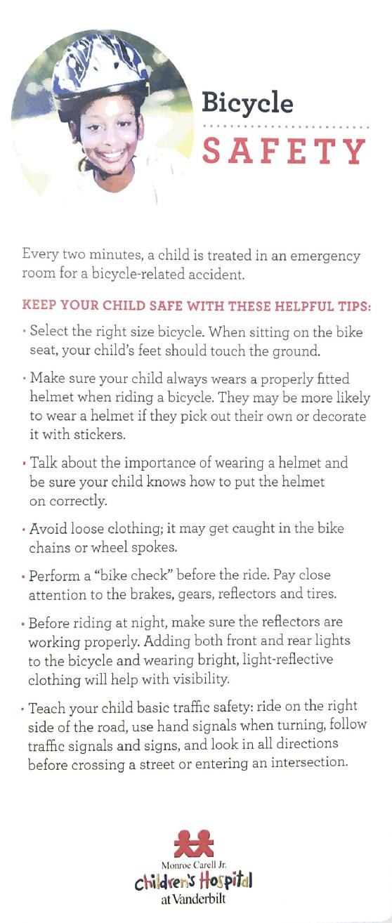 bike safety for kids English