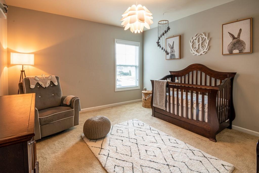 Nursery with crib