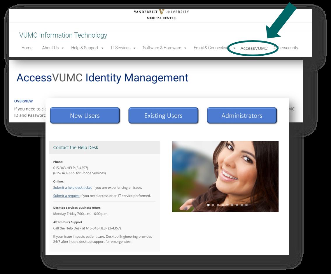 AccessVUMC homepage