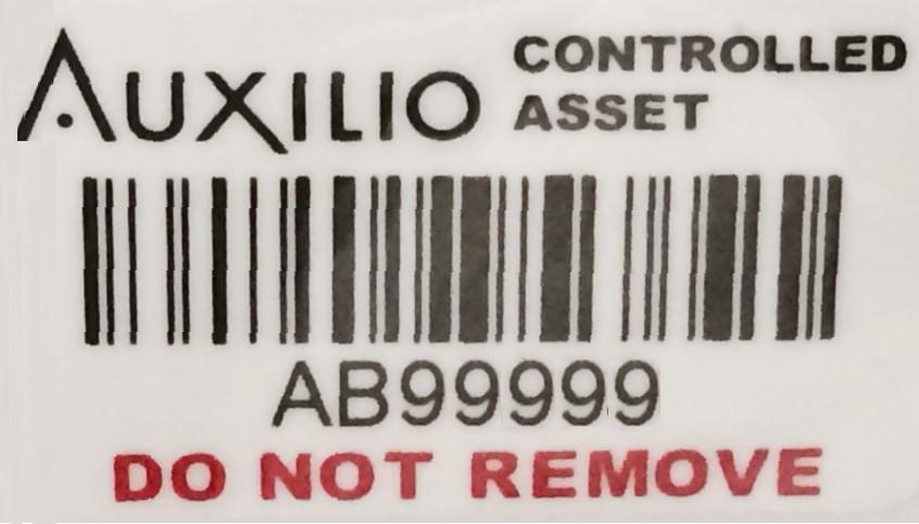auxilio/cynergis tek/vereco asset label