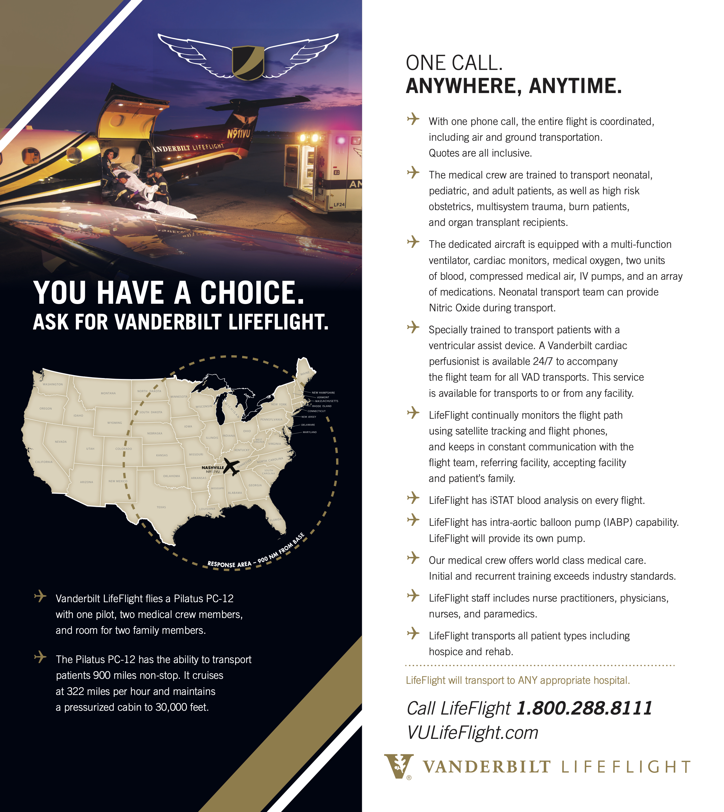 lifeflight airplane brochure page 2