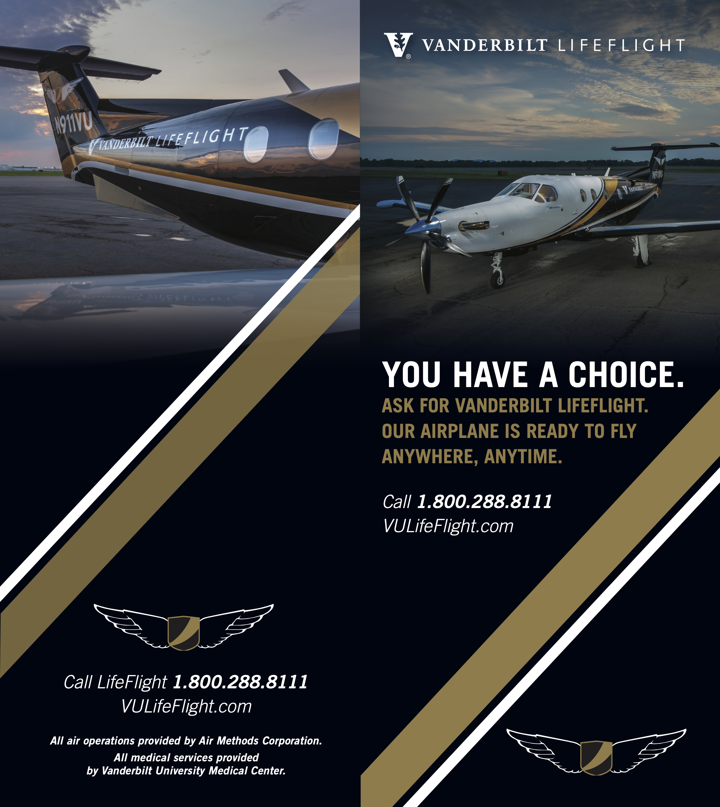 lifeflight airplane brochure page 1