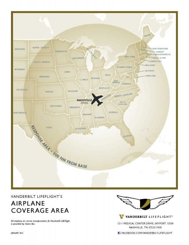 Airplane Coverage Area