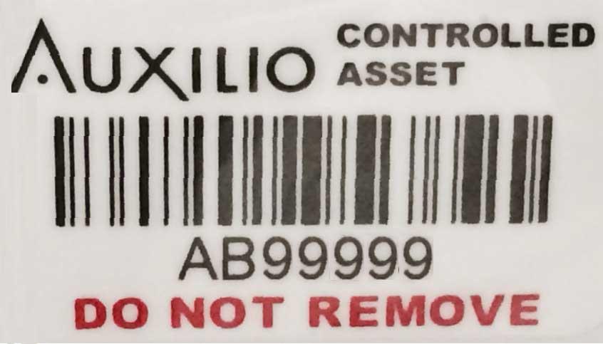 Sample Auxilio Label