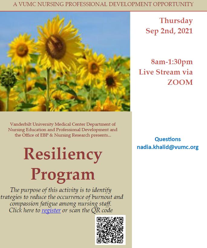 Resiliency workshop registration