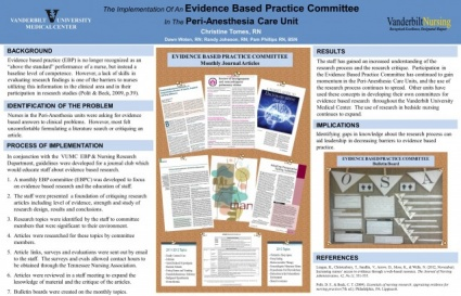 The Implementation of an Evidence Based Practice Community.