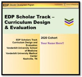 EDP Scholars Program