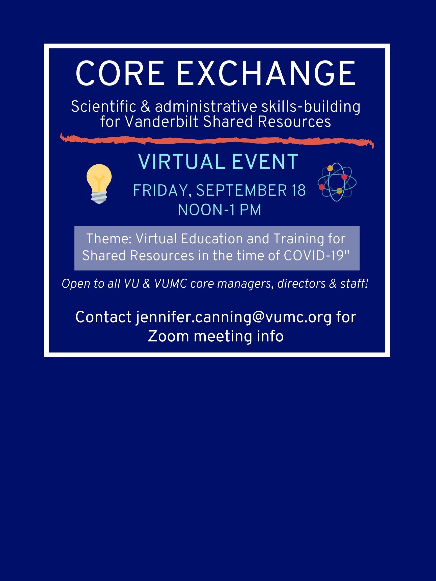 September 18,2020 Core Exchange Event Flyer