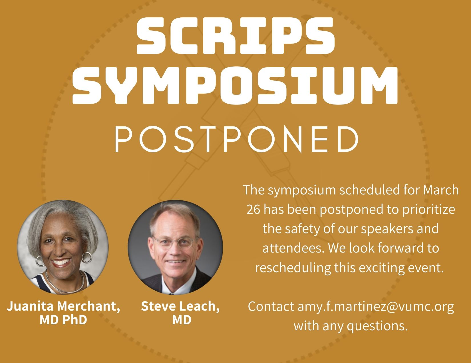 SCRIPS postponed