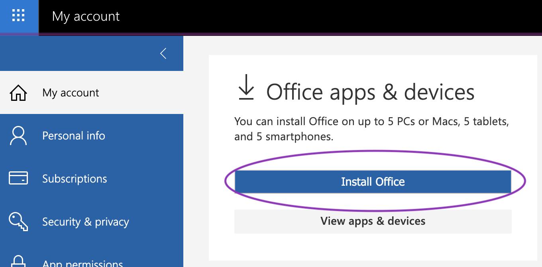 click 'Install Office'
