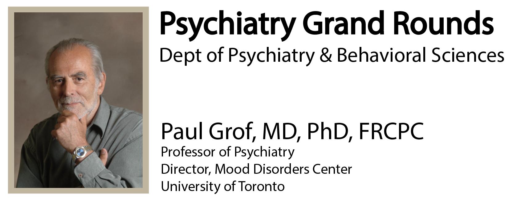 Paul Grof, MD, PhD