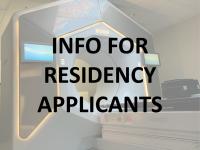 Info for residency applicants