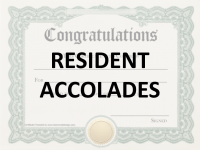 Resident Accolades
