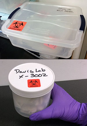 Examples of Biological Sample Secondary Containers