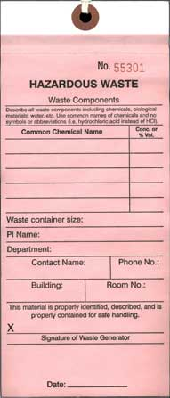 Chemical Waste Tag