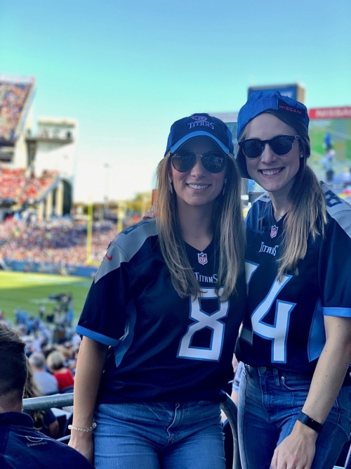 Marybeth at the titans game
