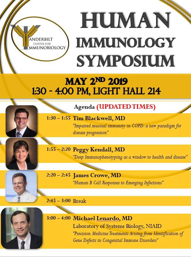 Human Immunobiology Symposium - May 2nd, 2019 - Agenda