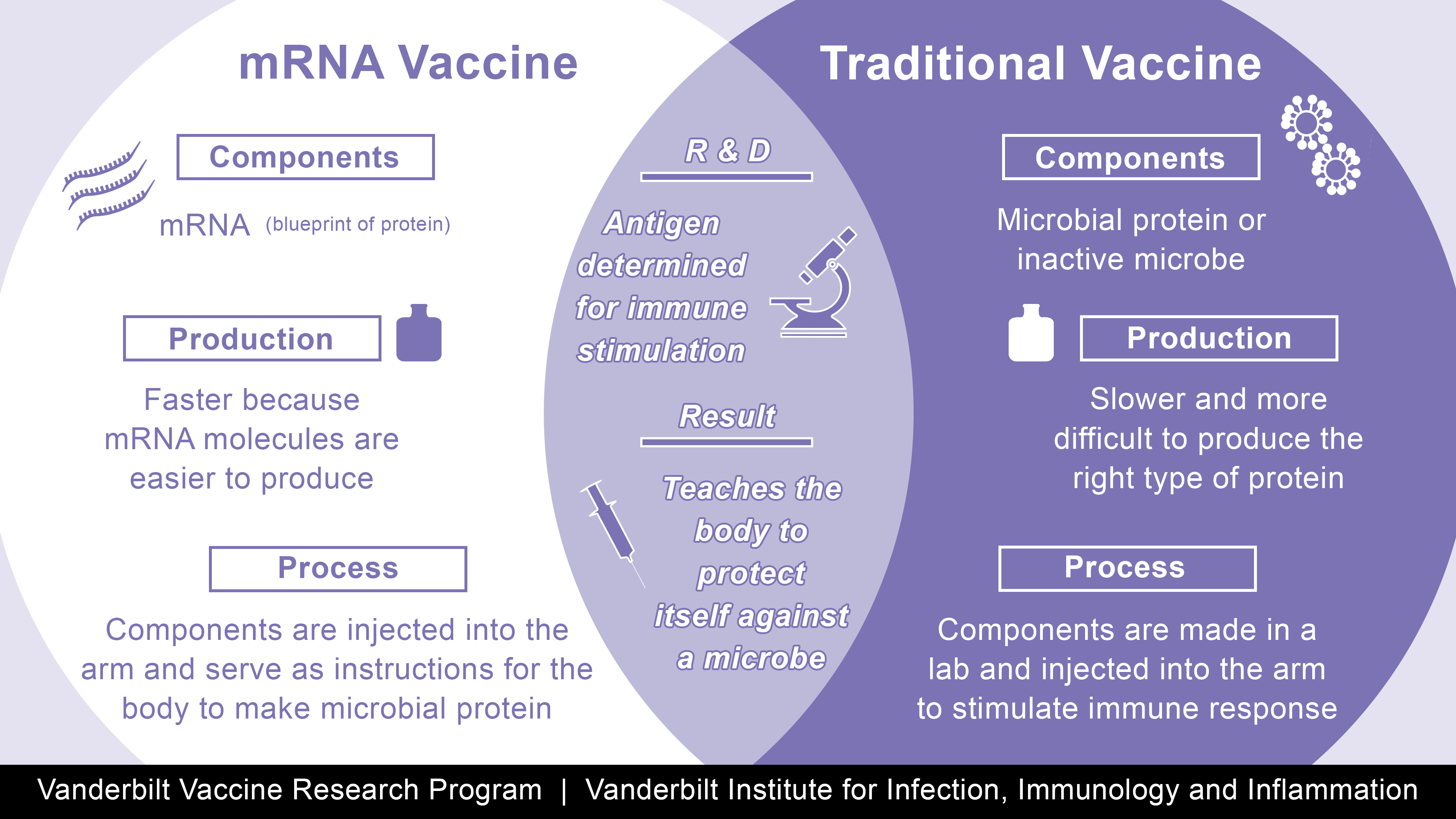 How does a mRNA vaccine compare to a traditional vaccine?